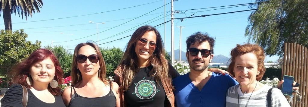 CNA, la Agencia de Inteligencia Cósmica y organizadores del 1er Congreso en Chile (De izquierda a derecha: Mónica, Ximena, Vanessa, Pablo y Ana)