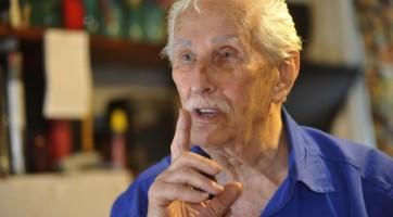 O criador da PROLUNA, o búlgaro-uruguaio Boris Cristoff, 90, residente em Montevidéu, no Uruguai, desde os cinco anos de idade.